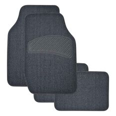 SCA Loop Pile Floor Mats - Carpet, Charcoal, Set of 4, , scaau_hi-res