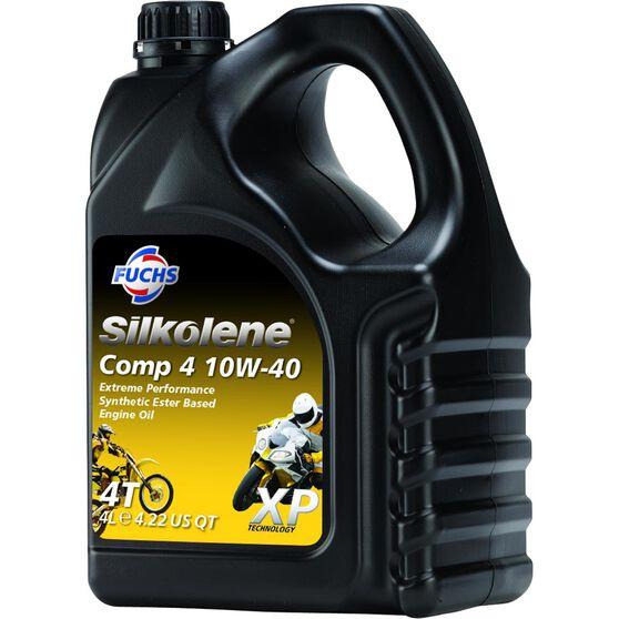 Silkolene Comp 4 Motorcycle Oil - 10W-40, 4 Litre, , scaau_hi-res