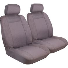 Imperial Seat Covers - Charcoal, Front Pair, Adjustable Headrests, Size 30, , scaau_hi-res