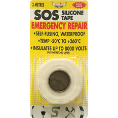 DynaGrip SOS Silicone Tape - White, 3m x 25mm, , scaau_hi-res