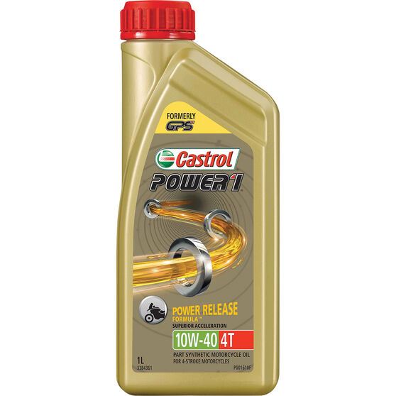 Castrol POWER1 4T Motorcycle Oil 10W-40 1 Litre, , scaau_hi-res