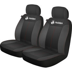 Holden Houston Seat Covers - Black/Red Adjustable Headrests Size 30 Airbag Compatible, , scaau_hi-res