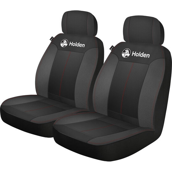 Holden Houston Seat Covers - Black/Red, Adjustable Headrests, Size 30, Airbag Compatible, , scaau_hi-res