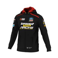 Supercheap Auto Racing Men's 2020 Team Zip Hoodie, Black, scaau_hi-res