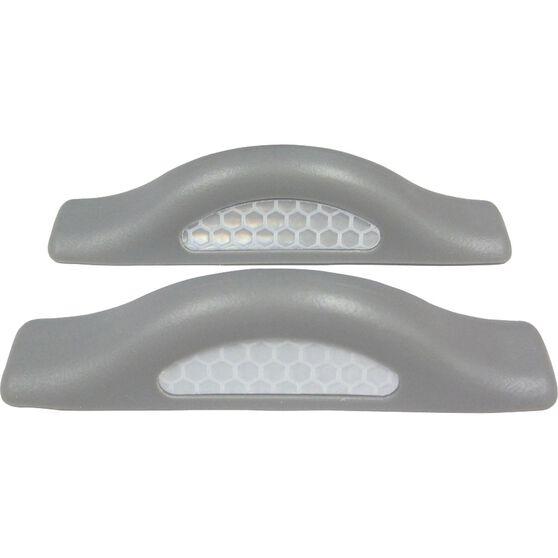 SCA Door Protectors - Grey With Silver Reflectors, 2 Pack, , scaau_hi-res