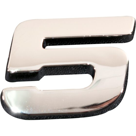 SCA 3D Chrome Badge Number 5, , scaau_hi-res