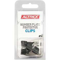 Altrex Number Plate Protector Replacement Clips Black Push On 4 Pack, , scaau_hi-res