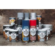 Metal Cover Aerosol Rust Paint - Enamel, Matt Black, 300g, , scaau_hi-res
