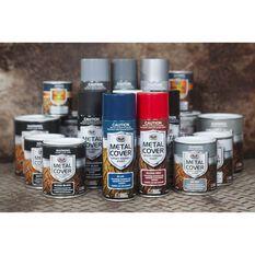 Metal Cover Rust Paint - Enamel, Gloss Black, 1L, , scaau_hi-res