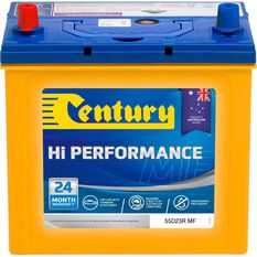 Century Hi Performance Car Battery 55D23R MF, , scaau_hi-res