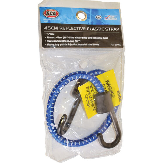 SCA Reflective Bungee Cord - 45cm, Blue, , scaau_hi-res