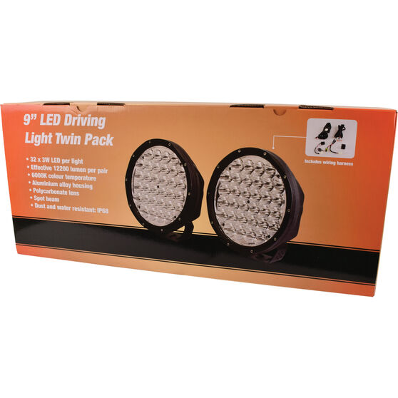 Driving Light Kit - 9 Inch, LED, with Harness, , scaau_hi-res