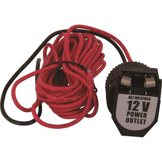 12V Socket - With Wiring, Heavy Duty, , scaau_hi-res