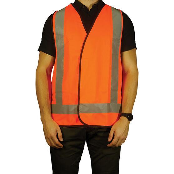 Trafalgar Hi-Vis Day Night Safety Vest Orange Large, , scaau_hi-res