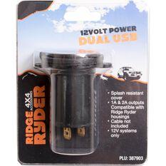 Ridge Ryder 12V Dual USB, , scaau_hi-res