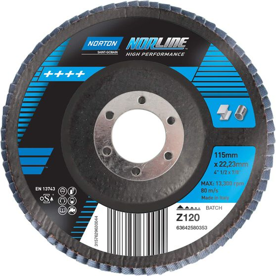Norton Flap Disc - 120 Grit, 115mm, , scaau_hi-res