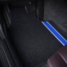 SCA Racing Car Floor Mat - Carpet, Black / Blue, Set of 4, , scaau_hi-res