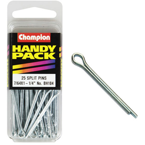 Champion Split Pins - 7 / 64inch X 1-1 / 4inch, BH184, Handy Pack, , scaau_hi-res