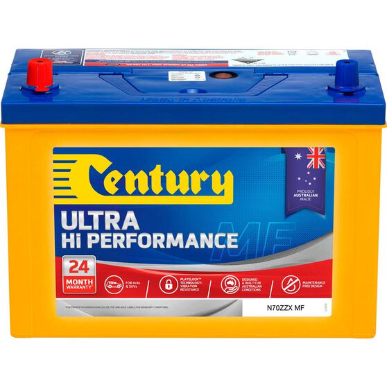 Century Ultra Hi Performance 4WD Battery N70ZZX MF, , scaau_hi-res