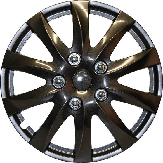 SCA Wheel Covers - Titanium, Silver, 14in, Set of 4, , scaau_hi-res