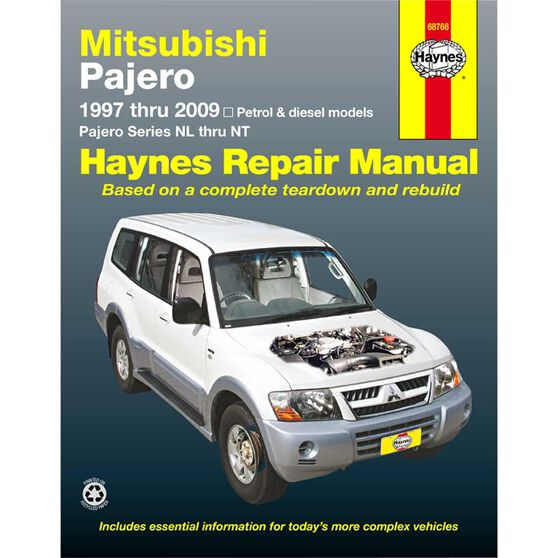 Haynes Car Manual For Mitsubishi Pajero 1997-2014 - 68766, , scaau_hi-res