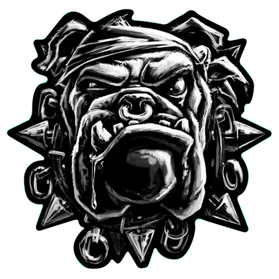 Hot Stuff Sticker - Bulldog, Chrome, , scaau_hi-res