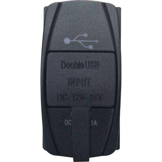 Panel Mount - Socket, Dual USB, , scaau_hi-res