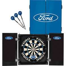 Official Licensed Ford Dartboard and Cabinet Set, , scaau_hi-res