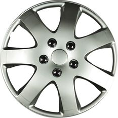 Best Buy Wheel Covers - Compass, 13 inch, Silver, 4 Piece, , scaau_hi-res