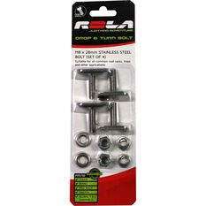 Rola Drop & Turn Channel Bolt - M8 x 28mm, 4 Pack, , scaau_hi-res