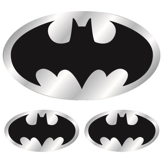 Hot Stuff Sticker - Batman Logo, Chrome, , scaau_hi-res
