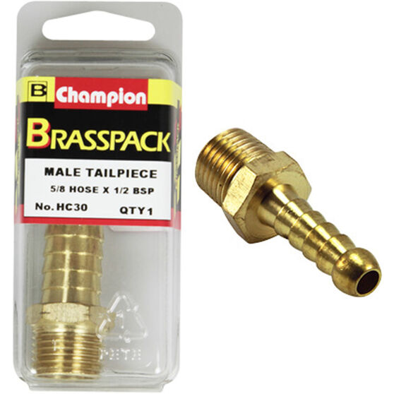 Champion Male Hose Barb - 5 / 8inch X 1 / 2inch, Brass, , scaau_hi-res