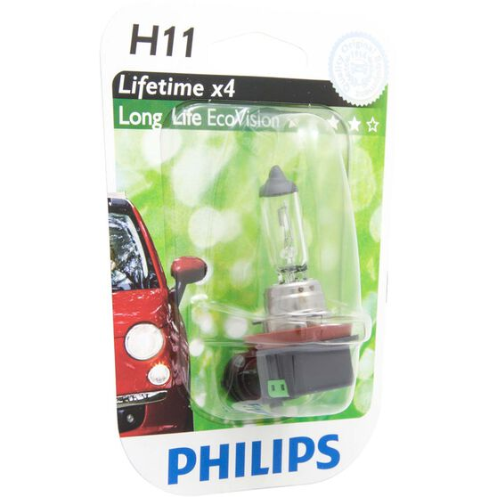 Philips LongLife EcoVision Headlight Globe  - 12V, H11, 55W, , scaau_hi-res