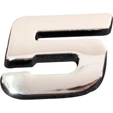 SCA 3D Chrome Badge Number 5, , scaau_hi-res