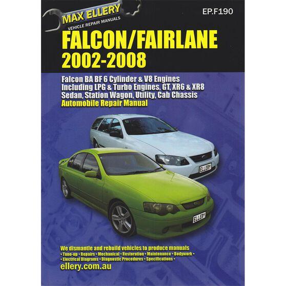 Ellery Car Manual Ford Falcon 2002-2008 - EP.F190, , scaau_hi-res