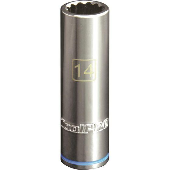 ToolPRO Single Socket - Deep, 1 / 2 inch Drive, 14mm, , scaau_hi-res