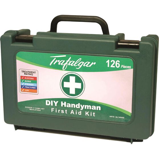 Trafalgar DIY Handyman First Aid Kit - 126 Piece, , scaau_hi-res