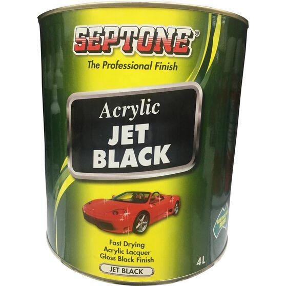 Septone Acrylic Paint - Jet Black, 4 Litre