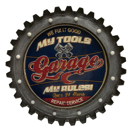 "Gear LED Sign 22.5"" Garage, , scaau_hi-res"