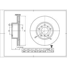 Bosch Disc Brake Rotor PBR040, , scaau_hi-res