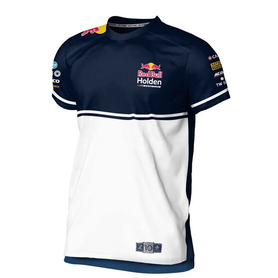 RedBull Holden Racing Team Men's 2020 T-Shirt, White / Navy, scaau_hi-res