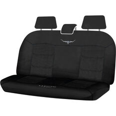 R.M.Williams Woven Seat Covers - Black, Adjustable Headrests, Size 06H, Rear Seat, , scaau_hi-res