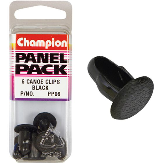 Champion Canoe Clips - PP06, Black, Panel Pack, , scaau_hi-res