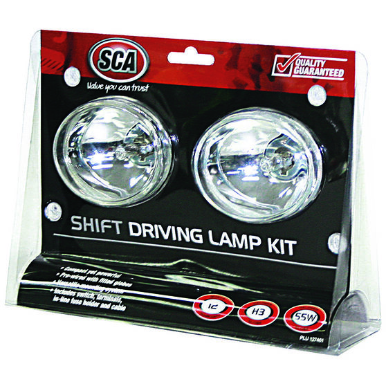SCA Driving Light Kit - 55W, Shift, 80mm, Oval, 2 Pack, , scaau_hi-res