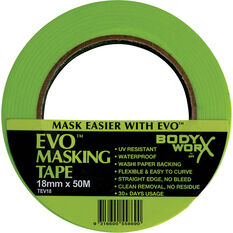 Bodyworx EVO Masking Tape - 18mm x 50m, , scaau_hi-res