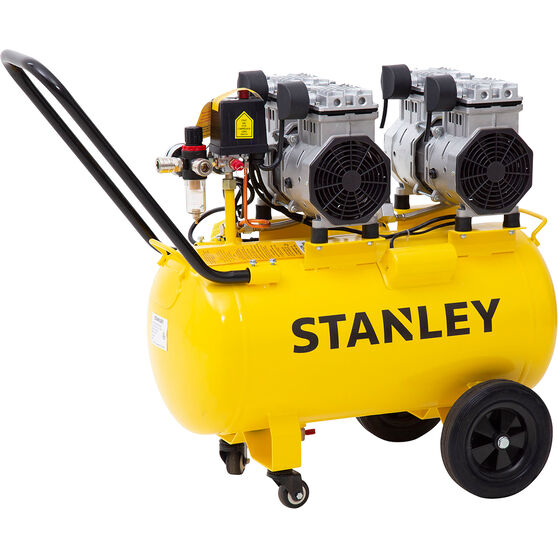 Stanley Air Compressor Silenced 2.75HP 50 Litre tank, , scaau_hi-res