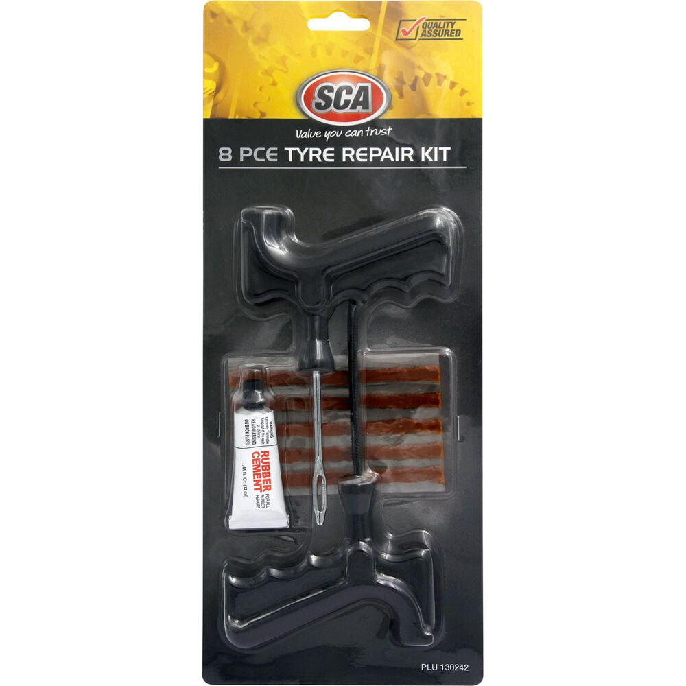 SCA Tyre Repair Kit - 8 Piece