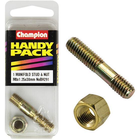 Champion Manifold Stud - M8 X 38, BH291, Handy Pack, , scaau_hi-res