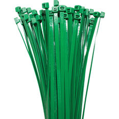 SCA Cable Ties - 200mm x 4.8mm, 25 Pack, Green, , scaau_hi-res