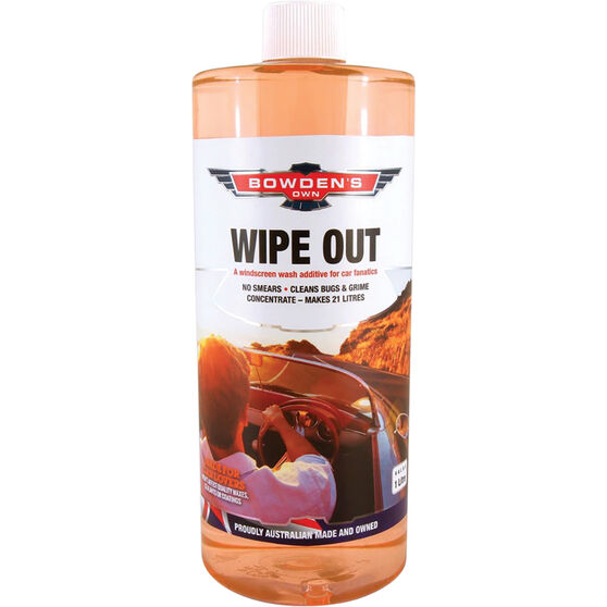 Bowden's Own Wipe Out Windscreen Washer Fluid 1L, , scaau_hi-res